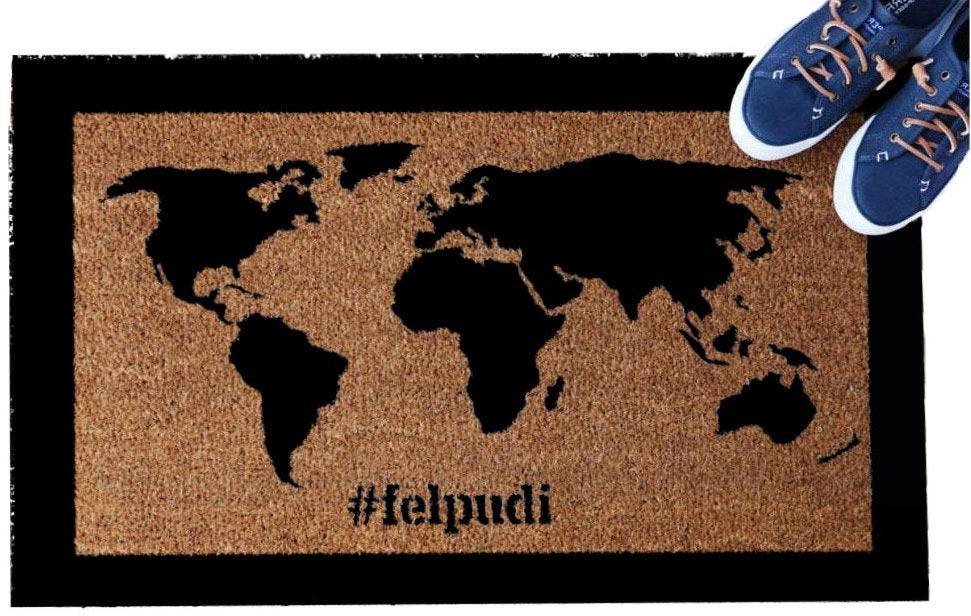 """""""Pasaulio žemėlapis"""" durų kilimėlis"""
