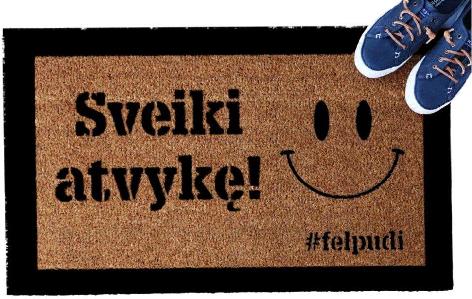 """""""Sveiki atvykę!"""" durų kilimėlis"""